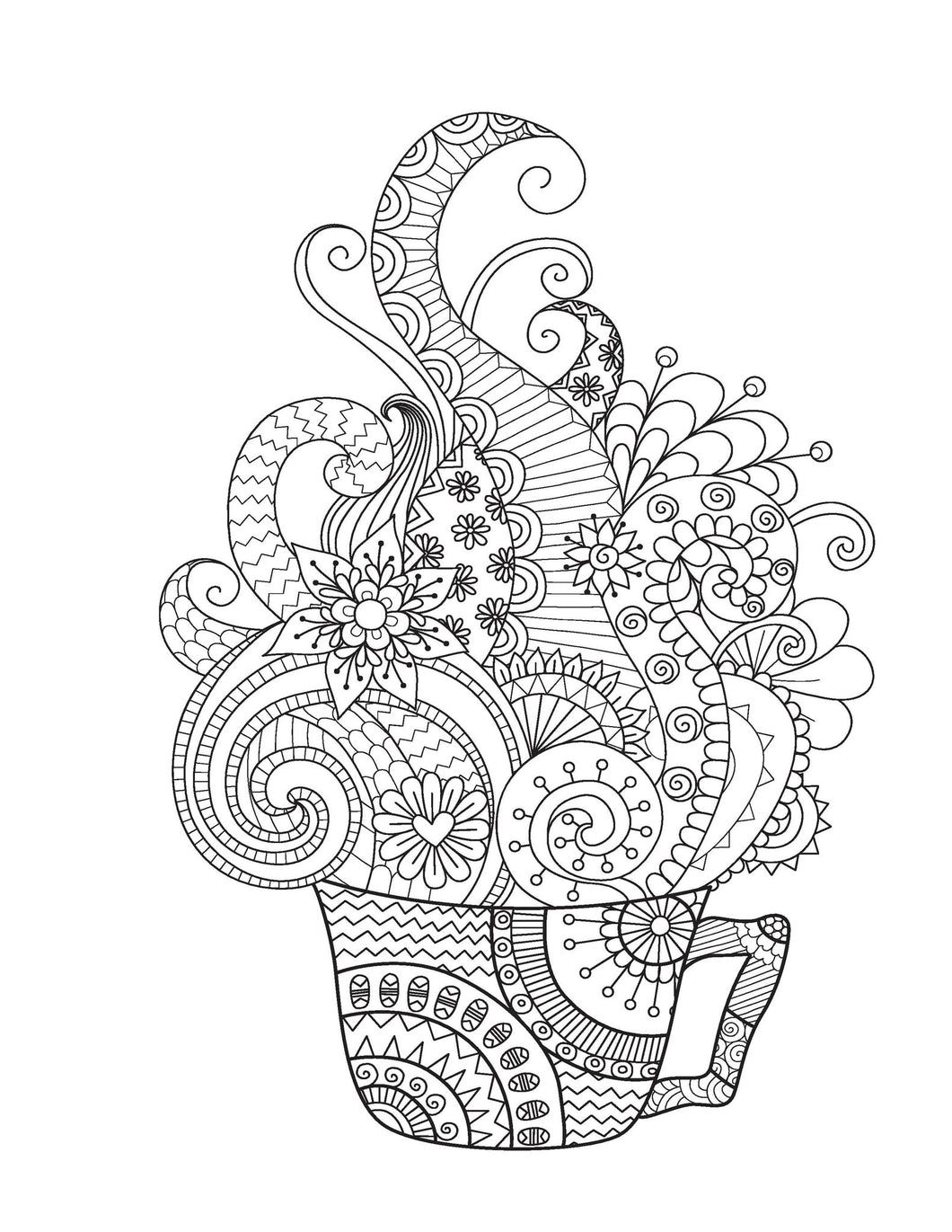 Medium designs for adults who color live your life in color series coloring book