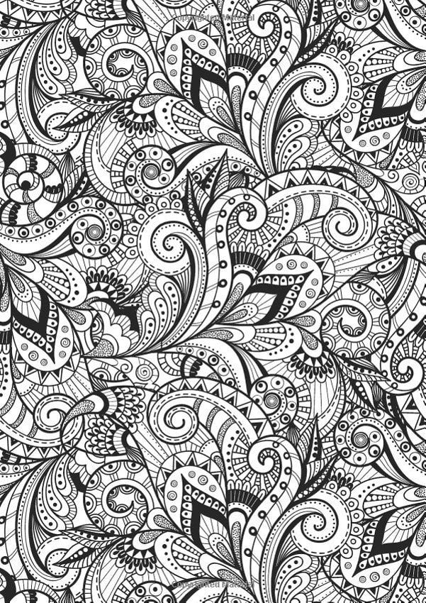 Calming Therapy: An Anti Stress Coloring Book – Coloring Book Zone