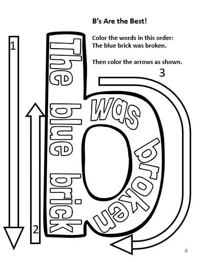 Coloring Activity Book For Elementary Students With Dyslexia Pack