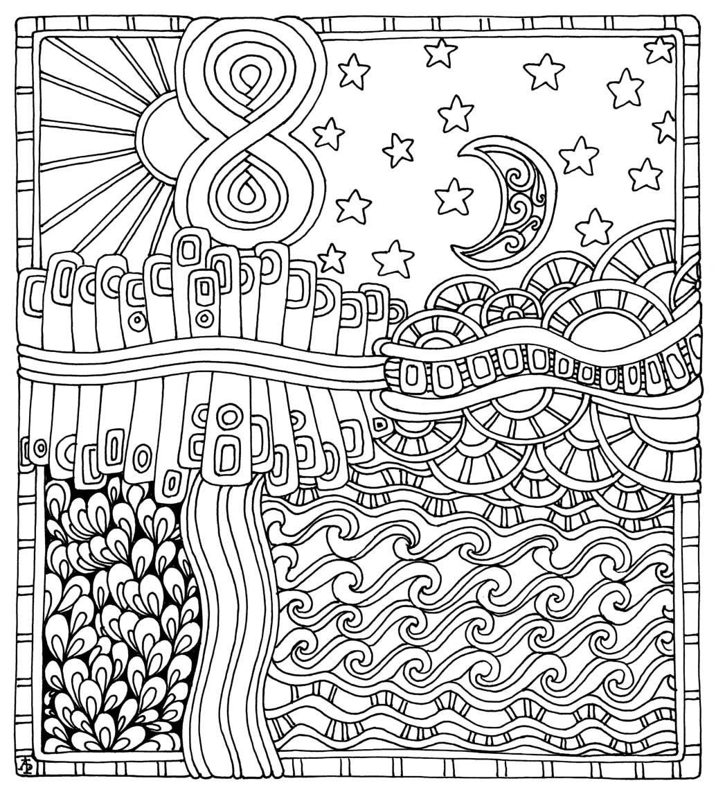 Stress free coloring images -  Color Me Stress Free Nearly 100 Coloring Templates To Unplug And Unwind Coloring Book