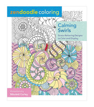 Calming Swirls: Stress-Relieving Designs to Color and Display - Coloring Book Zone
