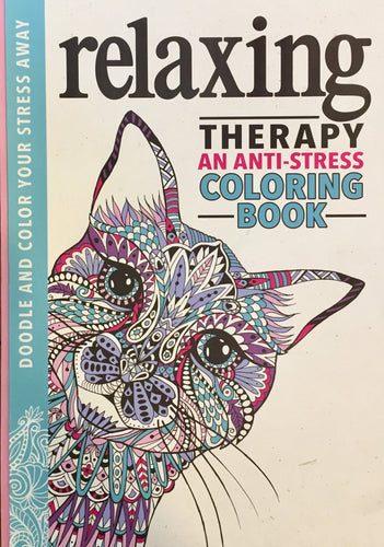 Relaxing Therapy: An Anti-Stress Coloring Book - Coloring Book Zone