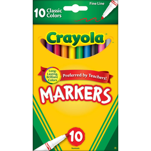 Crayola Classic Colors Fine Line Markers - Coloring Book Zone