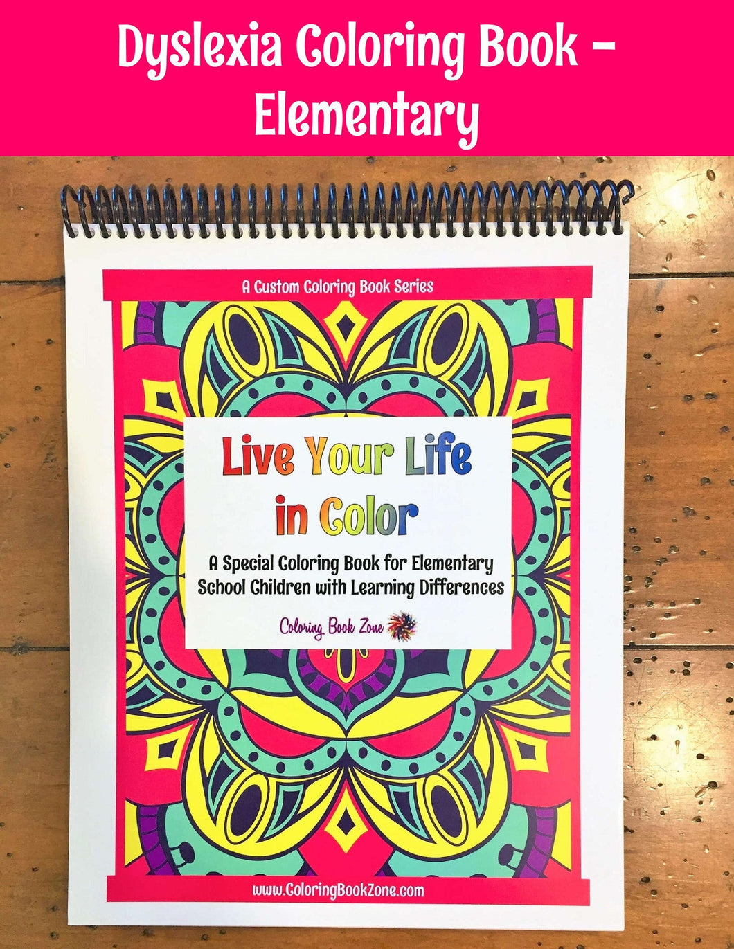 Coloring/Activity Book for Elementary Students with Learning Differences - Coloring Book Zone