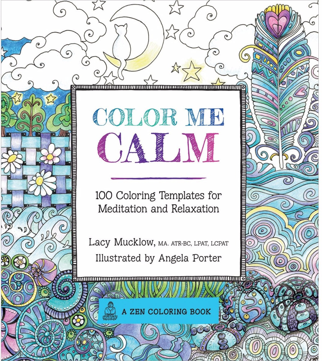 color me calm 100 coloring templates for meditation and relaxation coloring book zone - Best Coloring Book