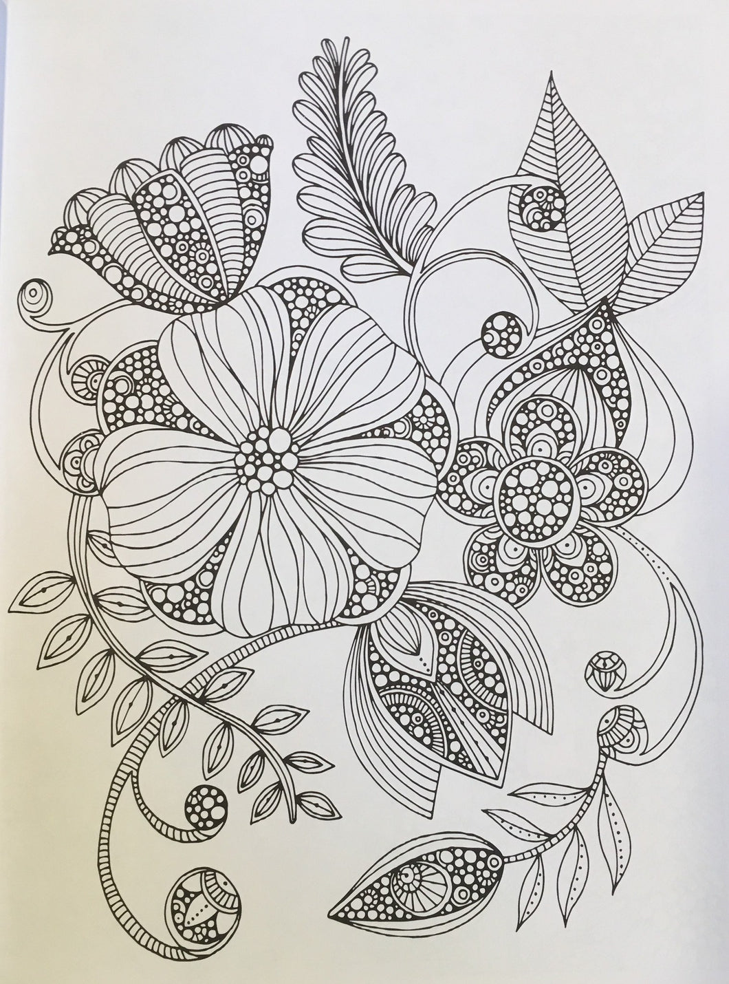 Creative Coloring Flowers – Coloring Book Zone