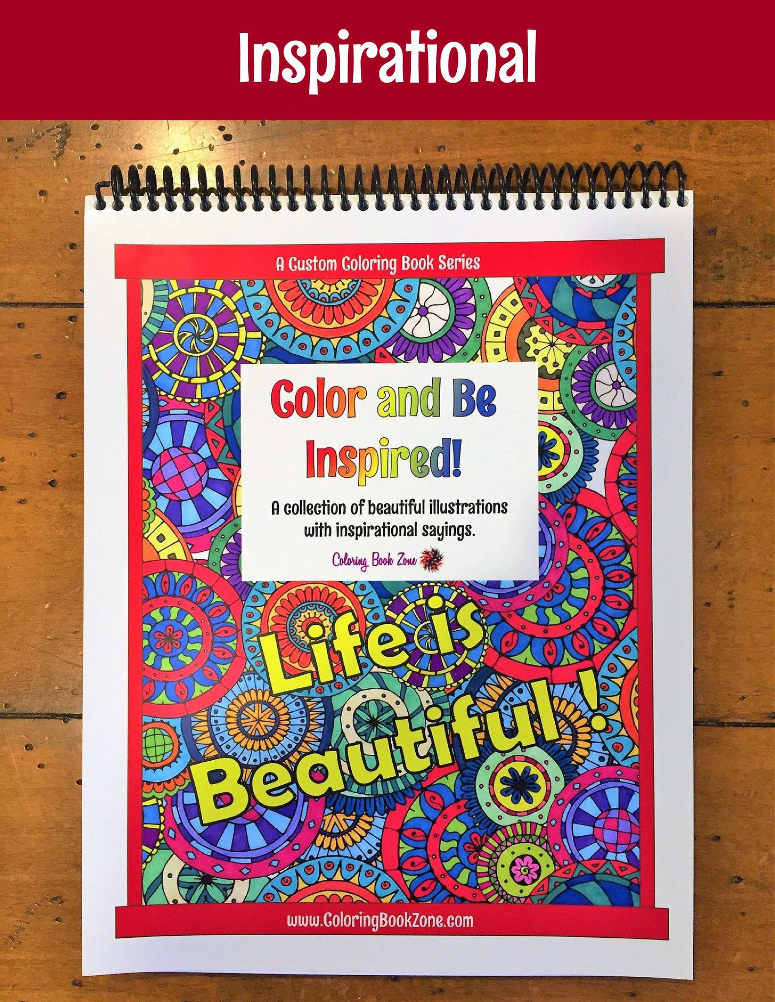 Zendoodle coloring enchanting gardens - Color And Be Inspired Live Your Life In Color Series Coloring Book Zone