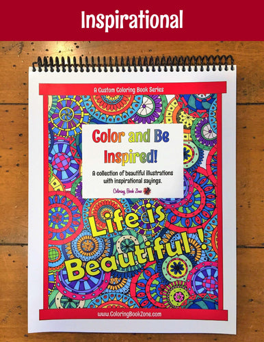 Color and Be Inspired - Live Your Life in Color Series - Coloring Book Zone