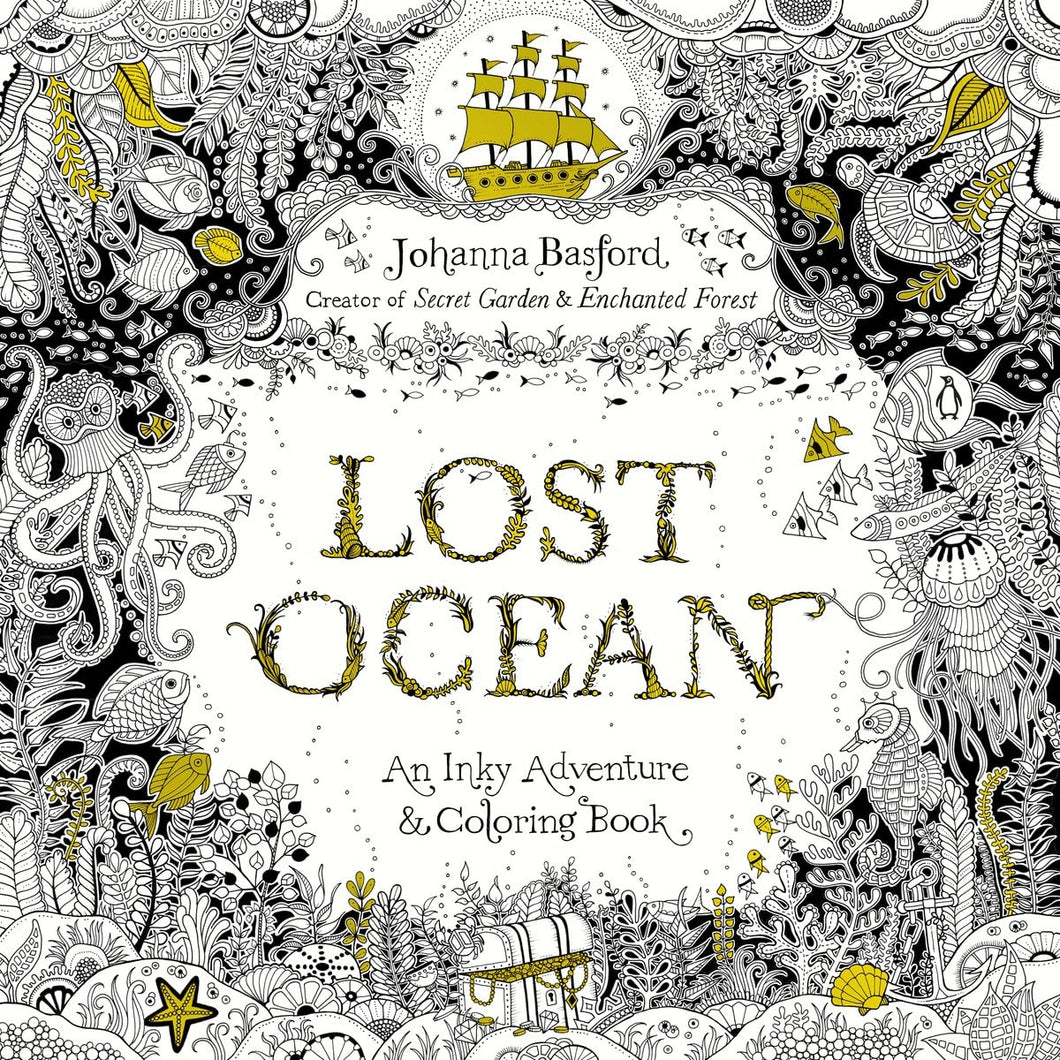 Lost Ocean: An Inky Adventure & Coloring Book - Coloring Book Zone