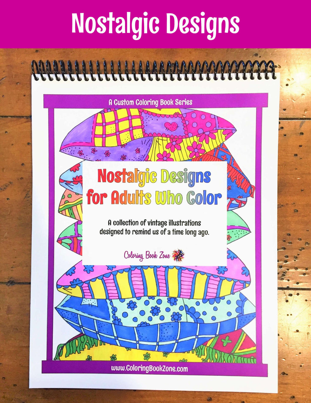 Nostalgic Designs for Adults Who Color - Live Your Life in Color ...