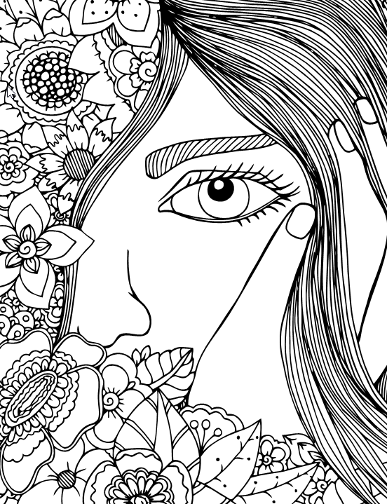 A Special Coloring Book for Girls - Live Your Life In Color Series