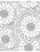 Flowers & Plants for Adults Who Color, Volume 2 - Live Your Life In Color Series - Coloring Book Zone