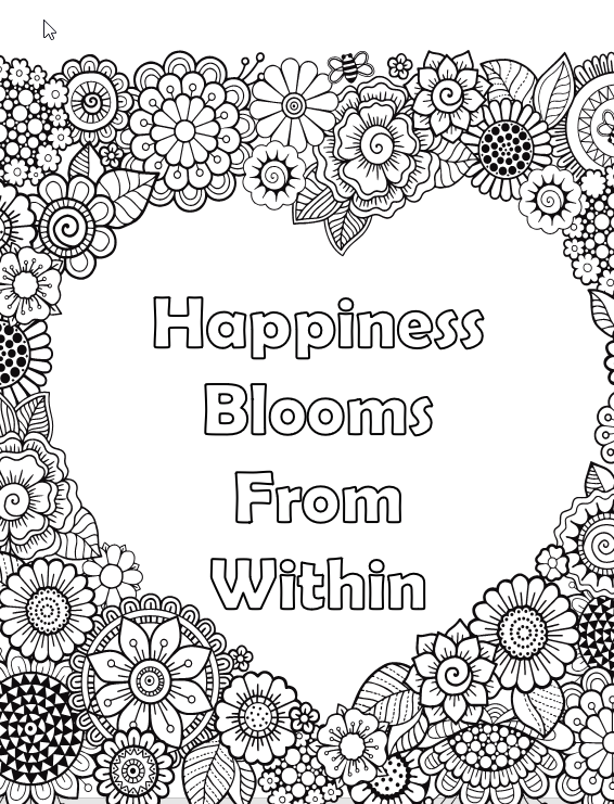 Flowers & Plants for Adults Who Color, Volume 2 - Live Your Life In Color  Series