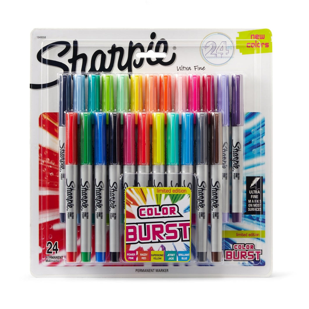 Sharpie Color Burst Limited Edition Ultra-Fine Point Markers - Coloring Book Zone