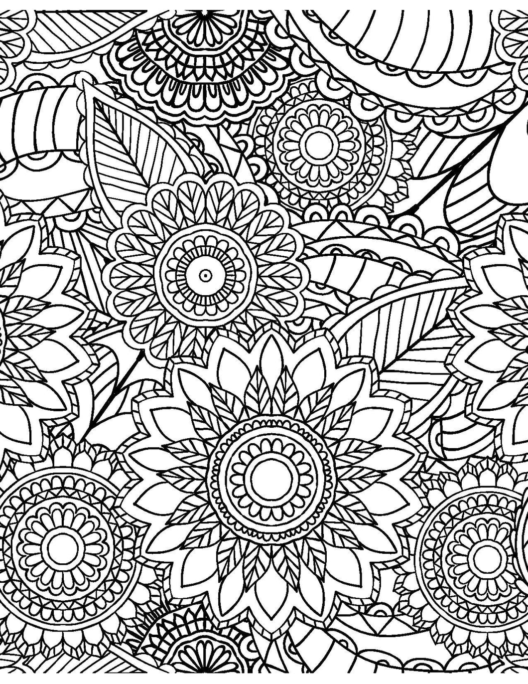 calming coloring pages for adults printable | Calming Patterns for Adults Who Color - Live Your Life in ...