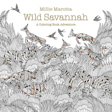wild savannah a coloring book adventure coloring book zone - Best Coloring Book