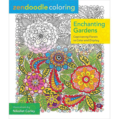 Enchanting Gardens: Captivating Florals to Color and Display - Coloring Book Zone