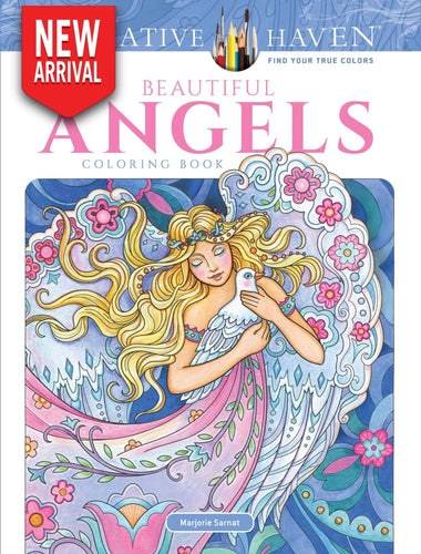 Creative Haven Beautiful Angels Coloring Book - Coloring Book Zone