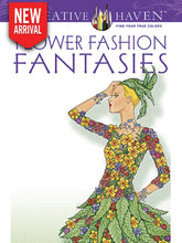 Flower Fashion Fantasies - Coloring Book Zone