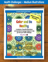 Health Challenges Coloring Book - Medium to Detailed Designs - Coloring Book Zone