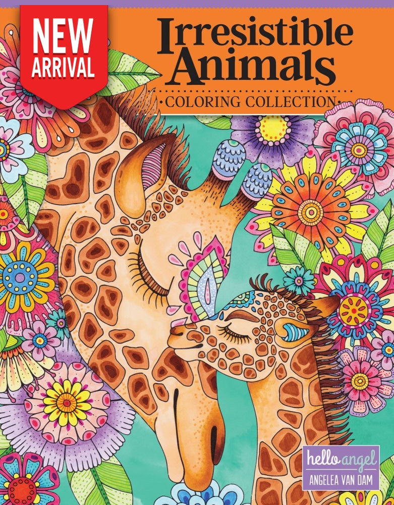 Hello Angel Irresistible Animals Coloring Collections - Coloring Book Zone