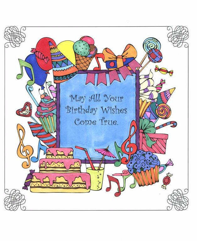 A Birthday Coloring Book Just For You! - Live Your Life In Color Serie – Coloring  Book Zone