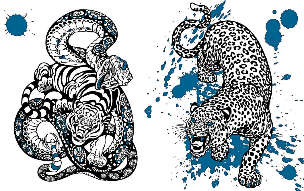 Inspired Coloring Tattoos Coloring To Relax And Free Your Mind