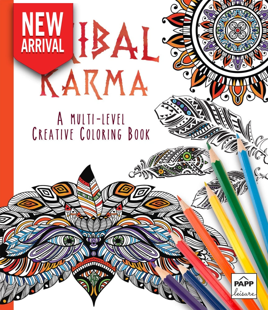 Tribal Karma: A Multi-Level Creative Coloring Book - Coloring Book Zone