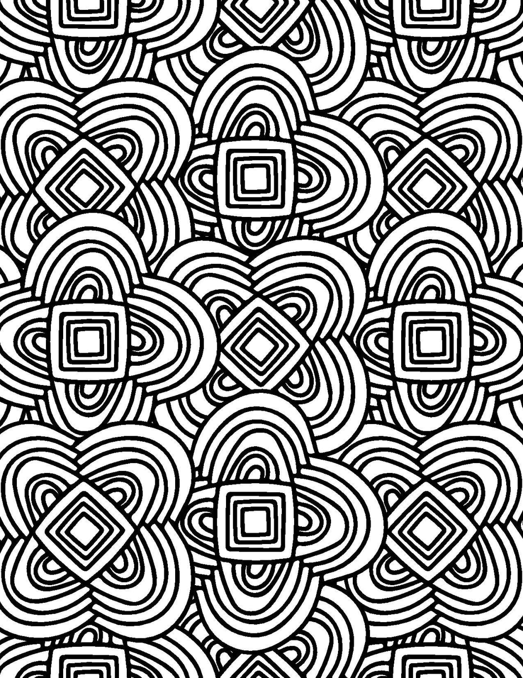 geometric designs for adults who color live your life in color