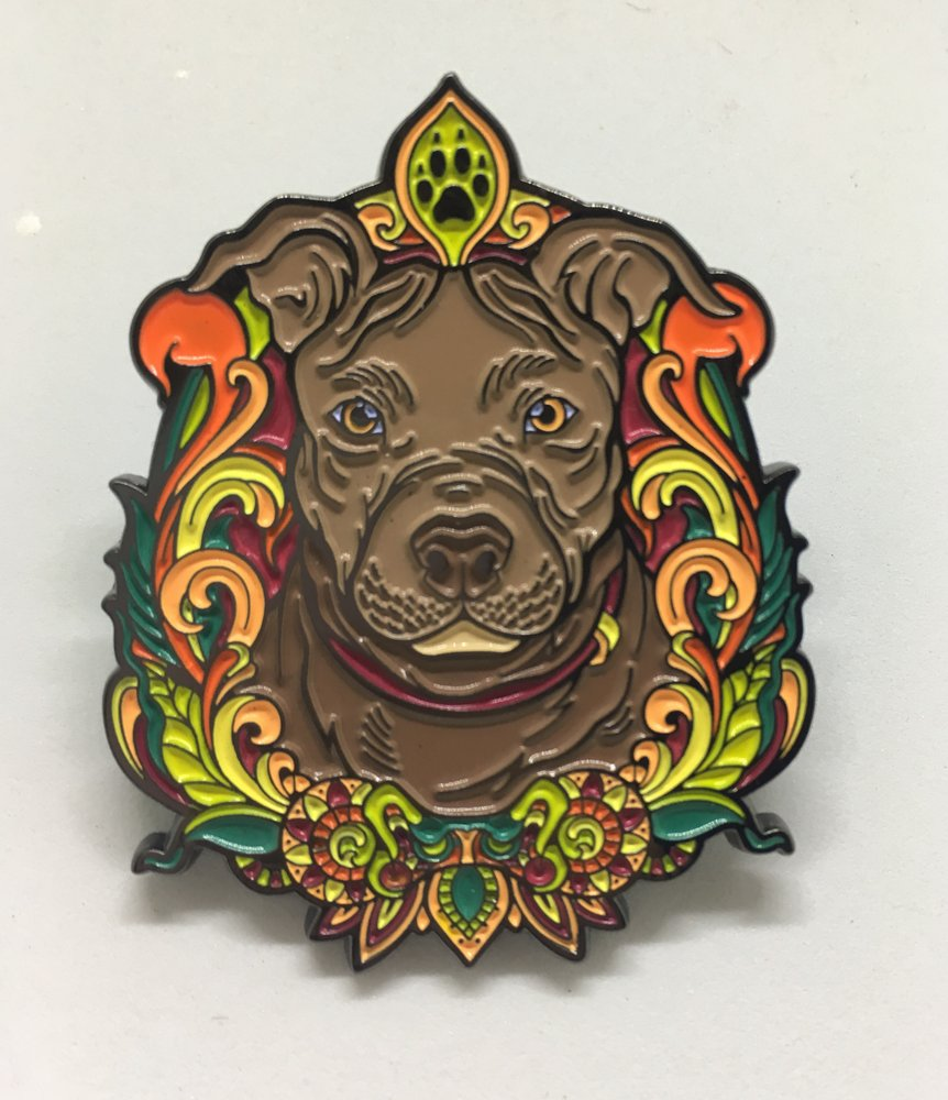 Brown Pitbull Pin