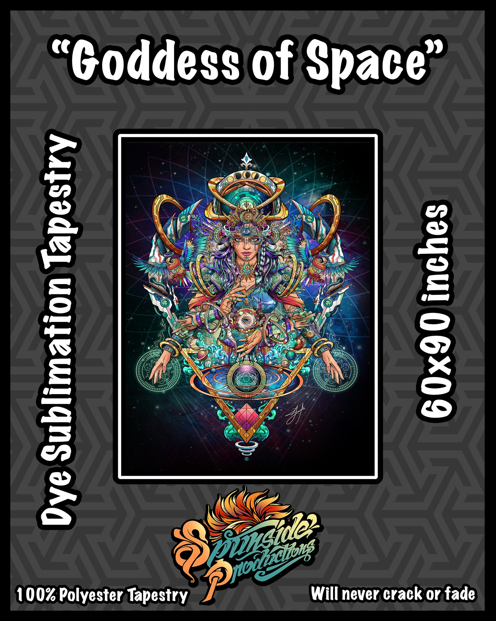 Goddess of Space Tapestry