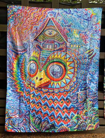 Mystical Owl Tapestry