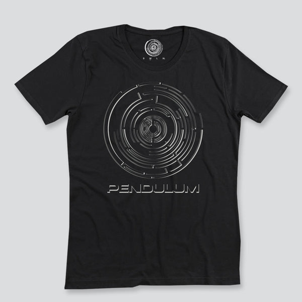 CHROME LOGO W/ TEXT BLACK T-SHIRT