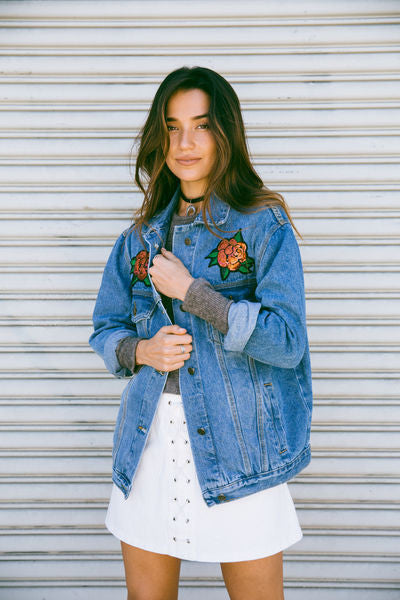 Naomi Patched Denim Jacket