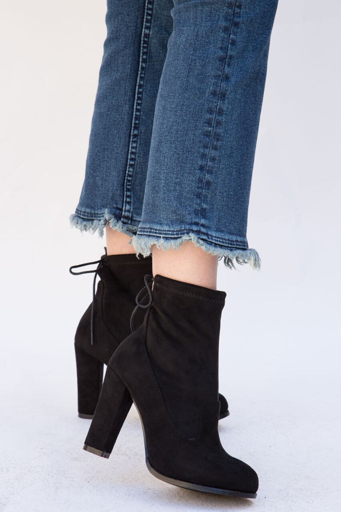 vegan suede ankle boots