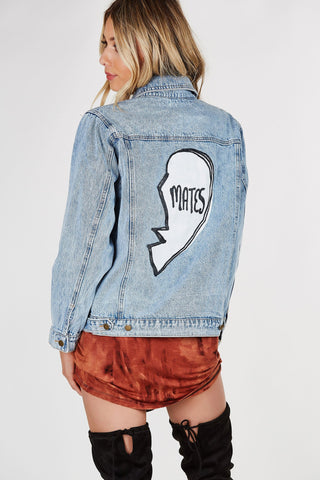 Soul Mates Patched Denim Jacket