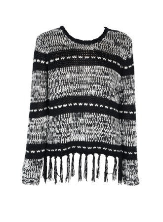 Frequency Fringe Pullover Sweater