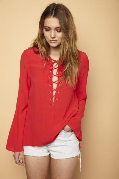 Isabelle Bell Sleeve Blouse