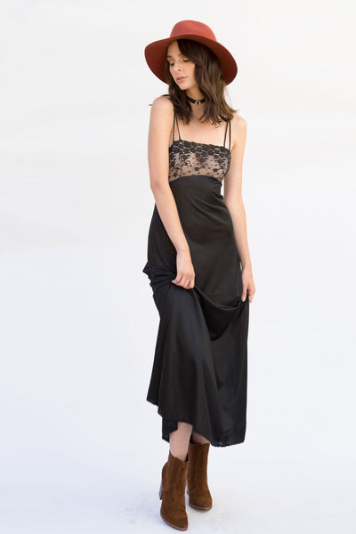 Turlington Vintage Black Slip Dress