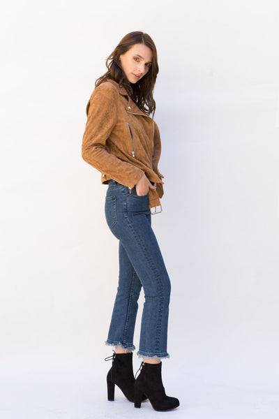 Imagine Vegan Suede Moto Jacket