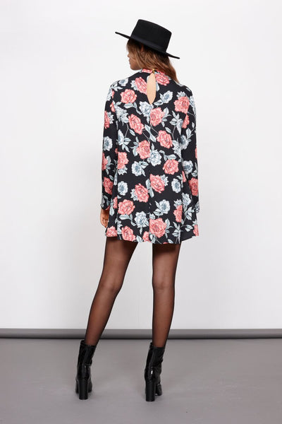 Winter Blooms Floral Shift Dress