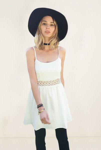 white boho sundress