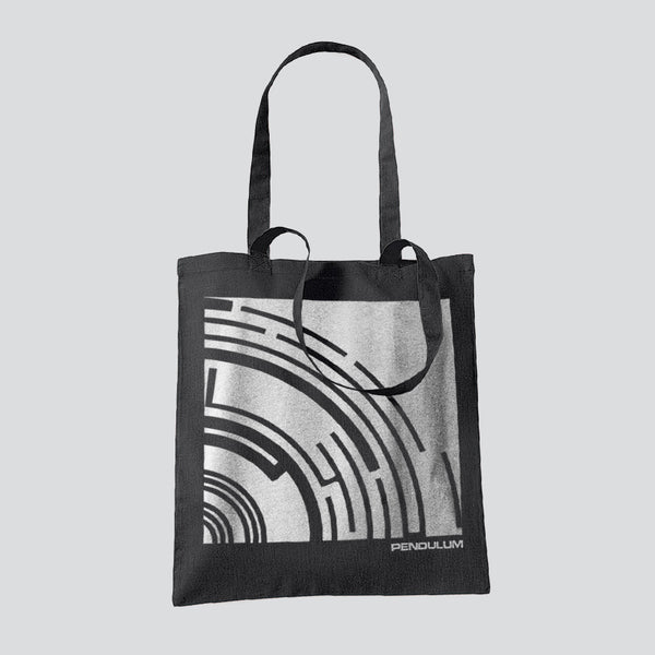 THE REWORKS CROPPED BLACK TOTE BAG