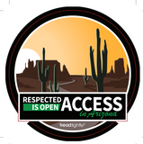 Respected Access in Arizona Sticker - Bulk