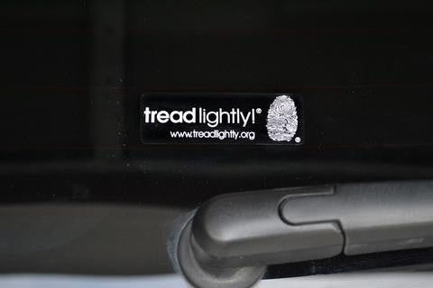 Small Tread Lightly! Decal (1X3) 100 Count