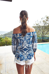 Avery top - freedom print