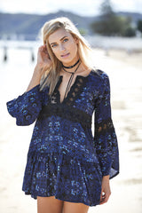Zephyr dress - midnight print