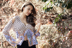Francesca top - Pure Magic print
