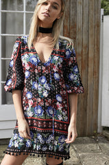 Beachside Tunic - Traveller print