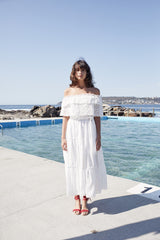 Bora Bora Maxi Dress - White Embroidered